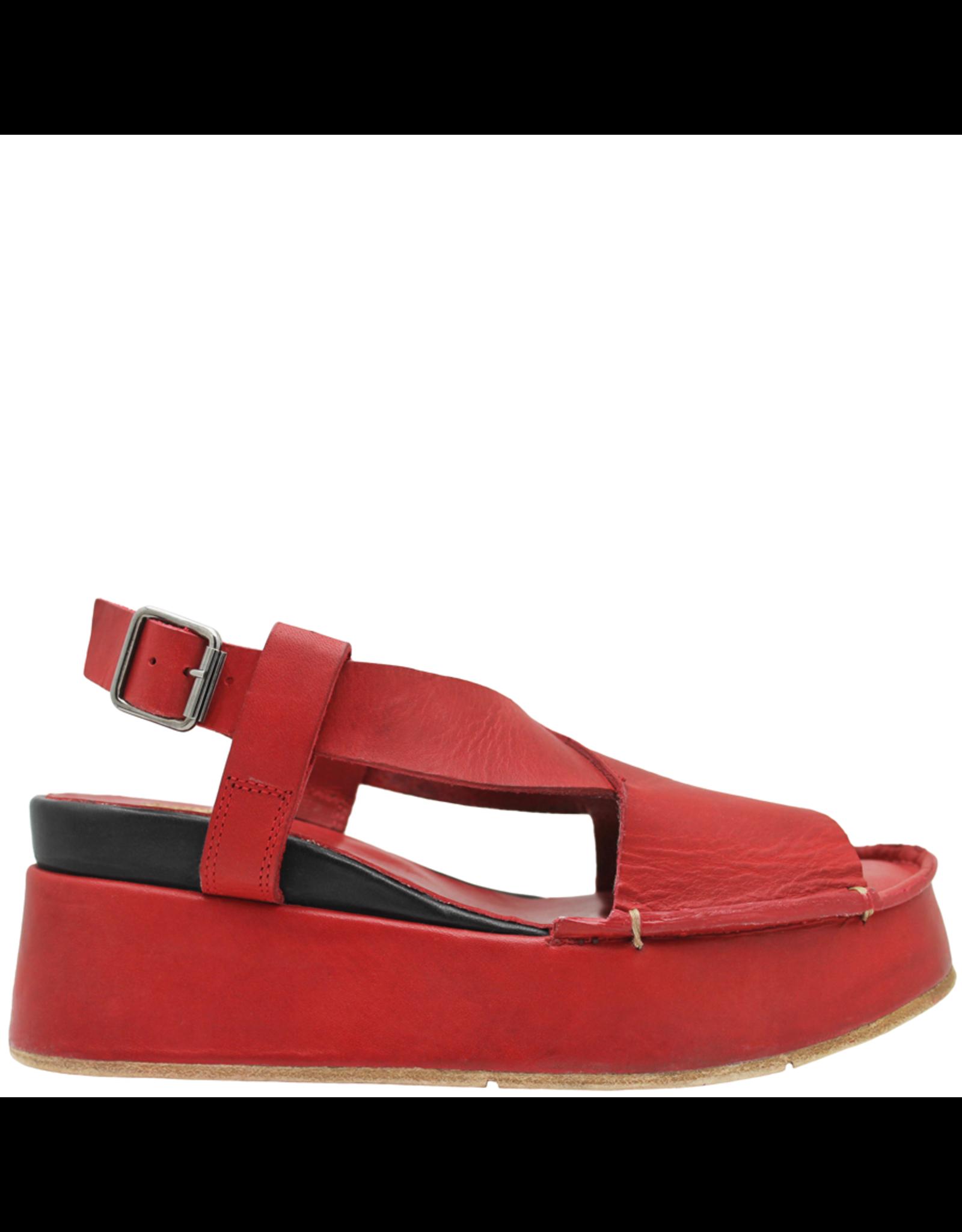 Moma Moma- Red Fiesta Wedge Sandal 2145