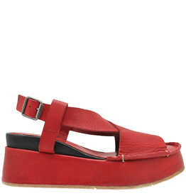 Moma Moma Red Fiesta Wedge Sandal 2145