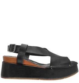 Moma Moma Black Wedge Sandal 2145