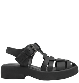 Elena Iachi ElenaIachi- Black Closed Toe Sling Flatform Sandal 2815