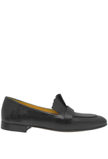 MaraBini MaraBini Black Loafer With Pleats 8113
