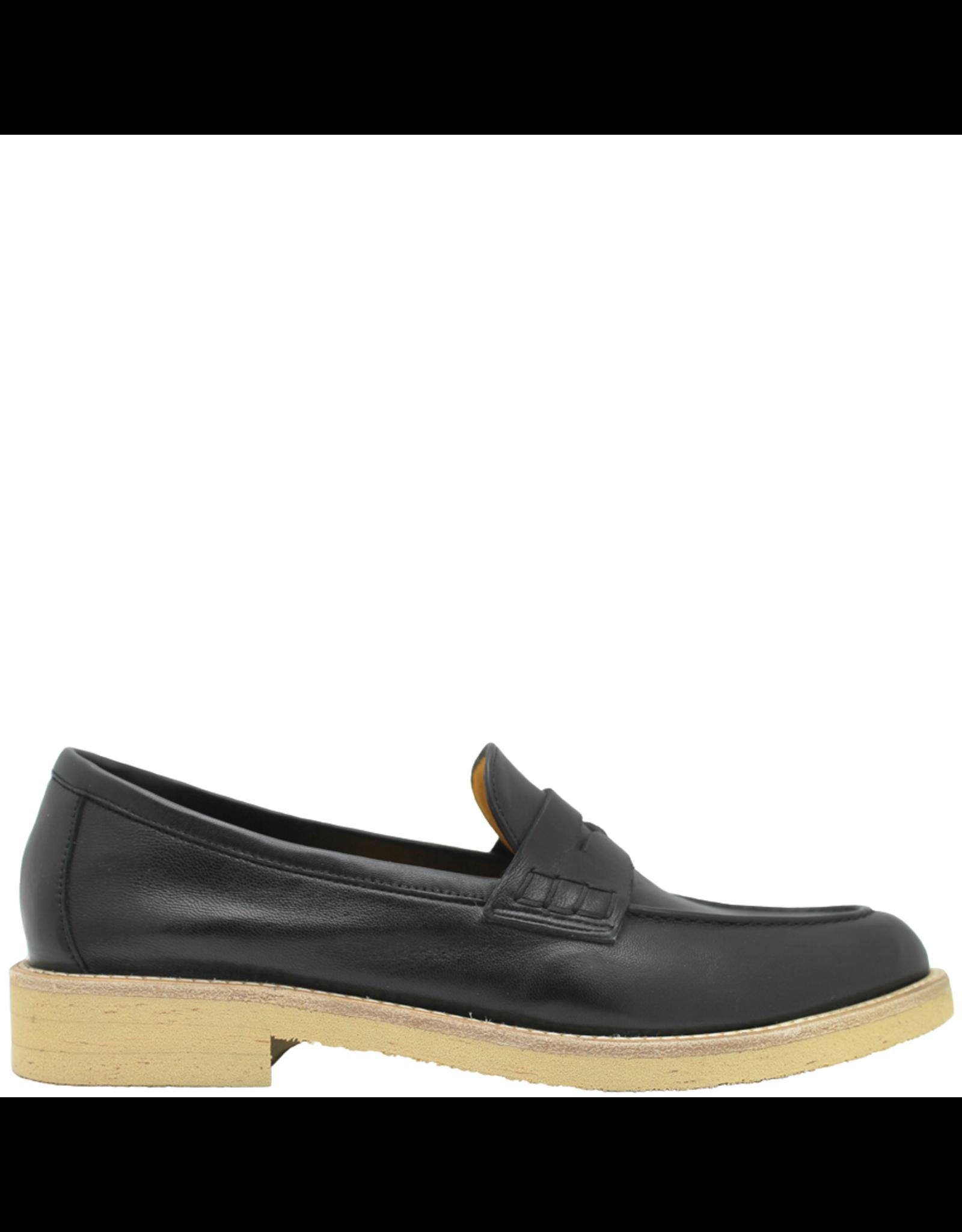 MaraBini MaraBini Black Nappa Light Sole Loafer 8116