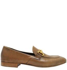 MaraBini MaraBini Camel Loafer With Gold Bit 8125
