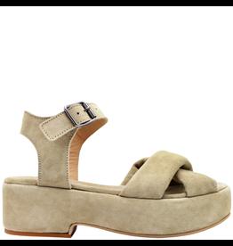 Moma Moma Taupe Suede Covered Platform Sandal 2114