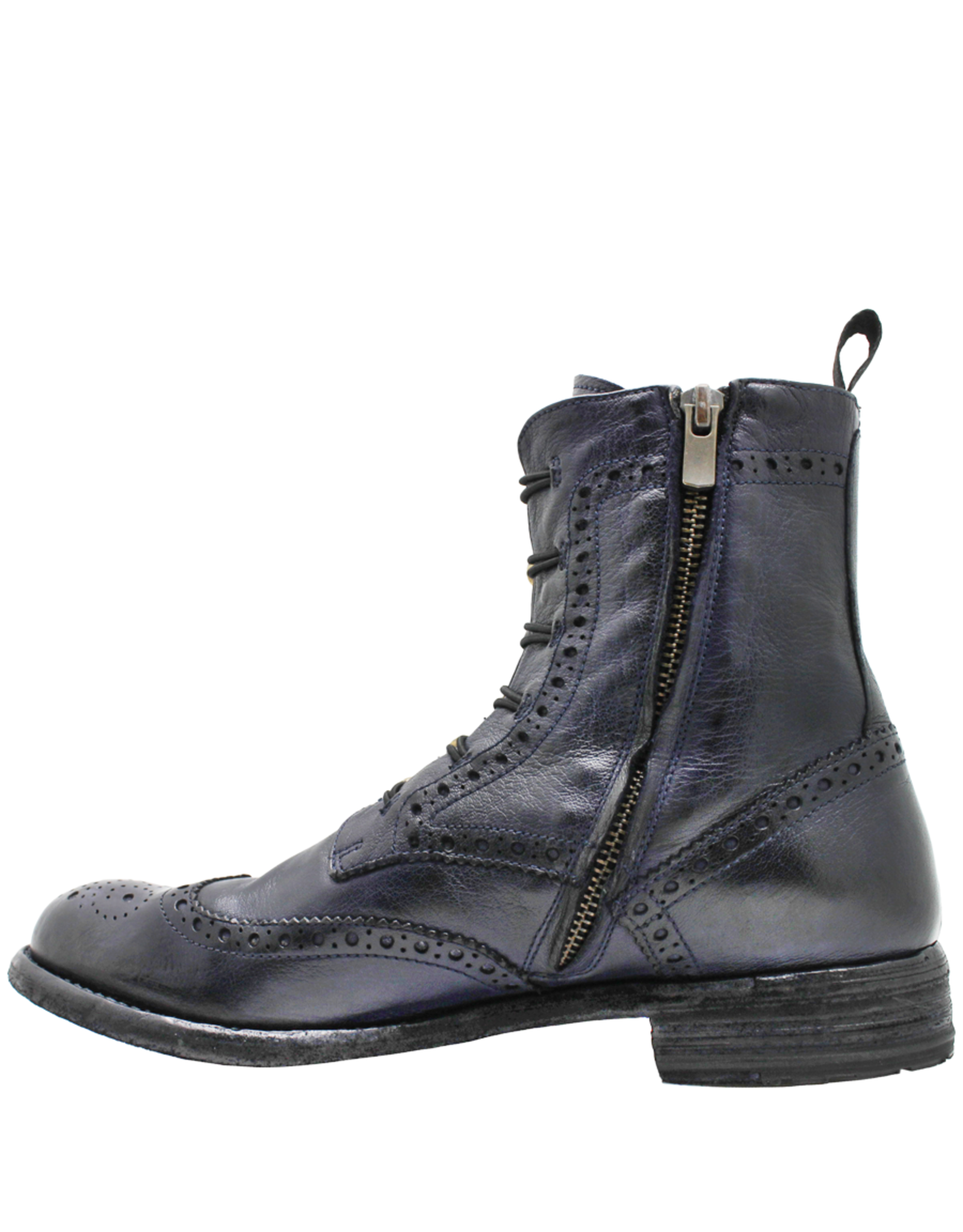 Officine Creative OfficineCreative Navy Ankle Boot / Toggle And Side Zipper Lexicon