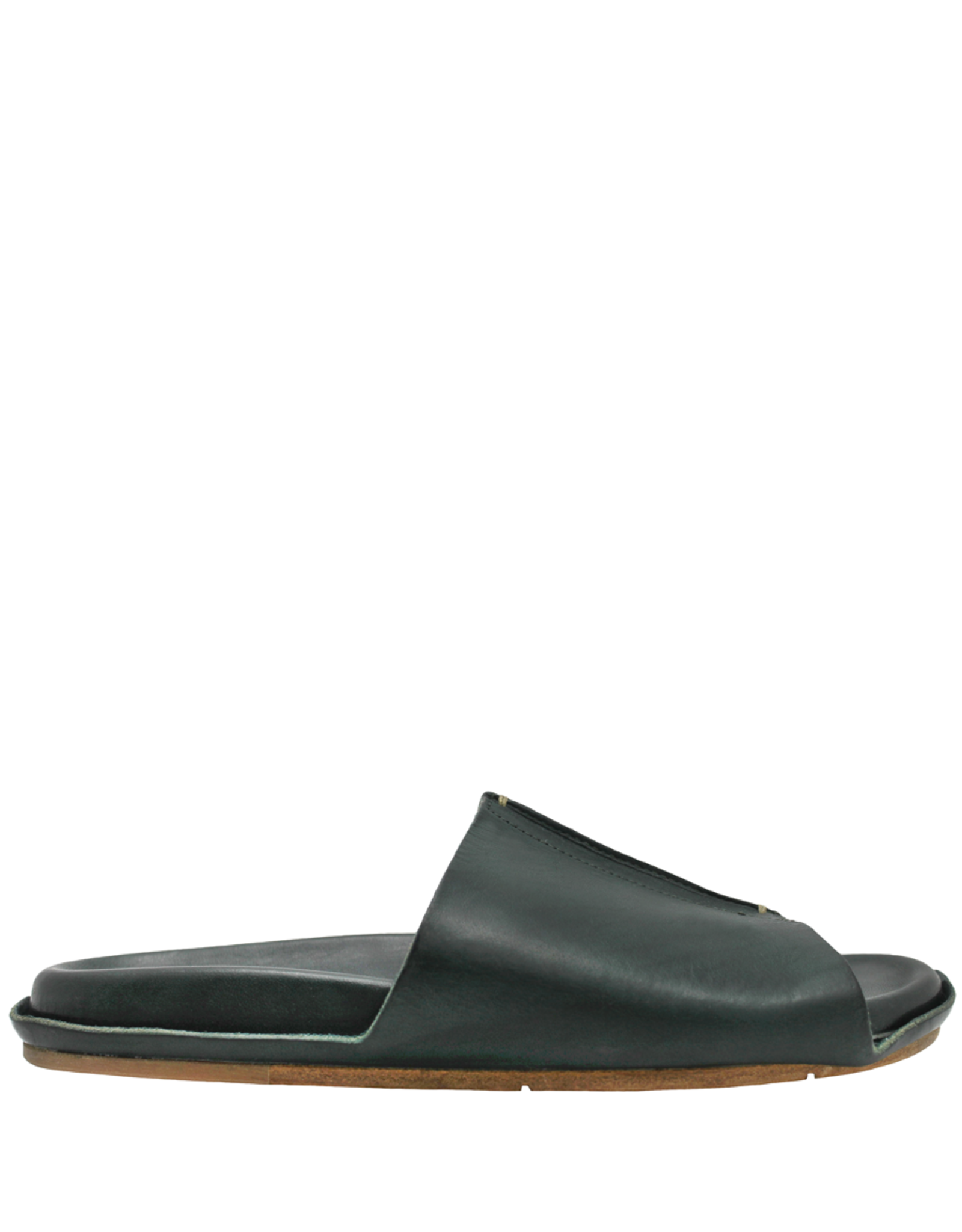Moma Moma- Verde Mule With Ergonomic Footbed  2141