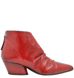 Halmanera Halmanera - Red Patent Ruched Ankle Boot Julie