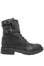 Now Now Black 2 Buckle with Chains  Boot 7015