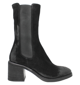 Now Now Black Suede Mid Calf Chelsea 7170