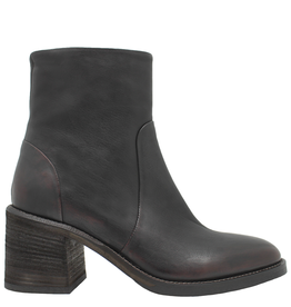 Now Now Brown Side Zipper Ankle  Boot 7171