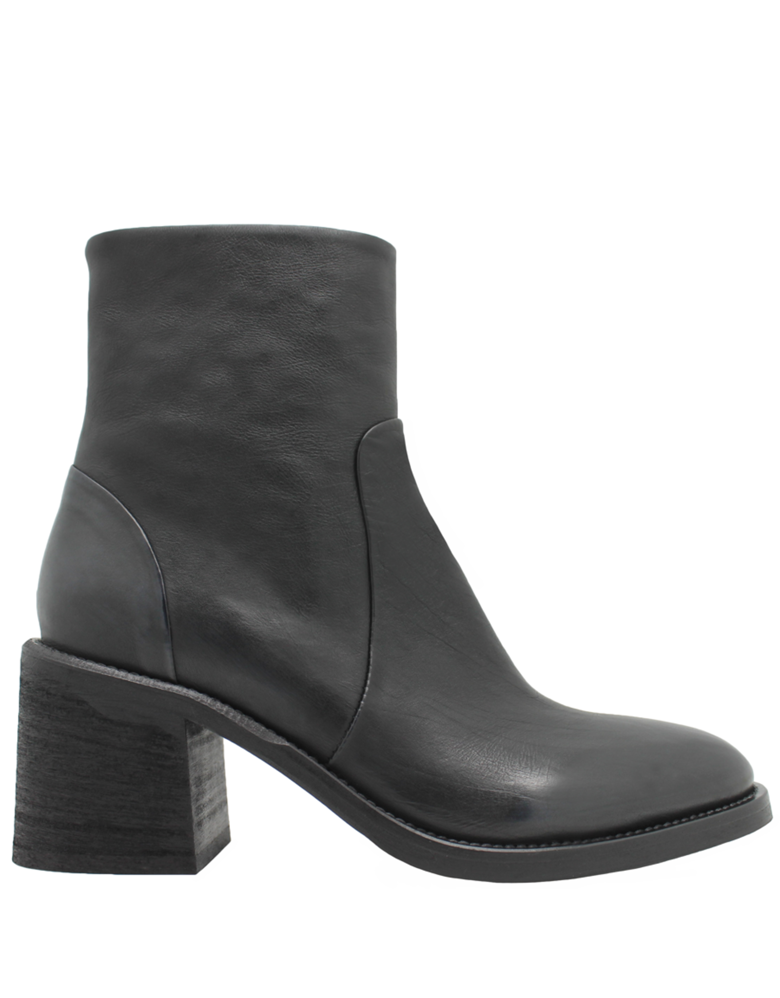 Now Now Blue Side Zipper Ankle  Boot 7171