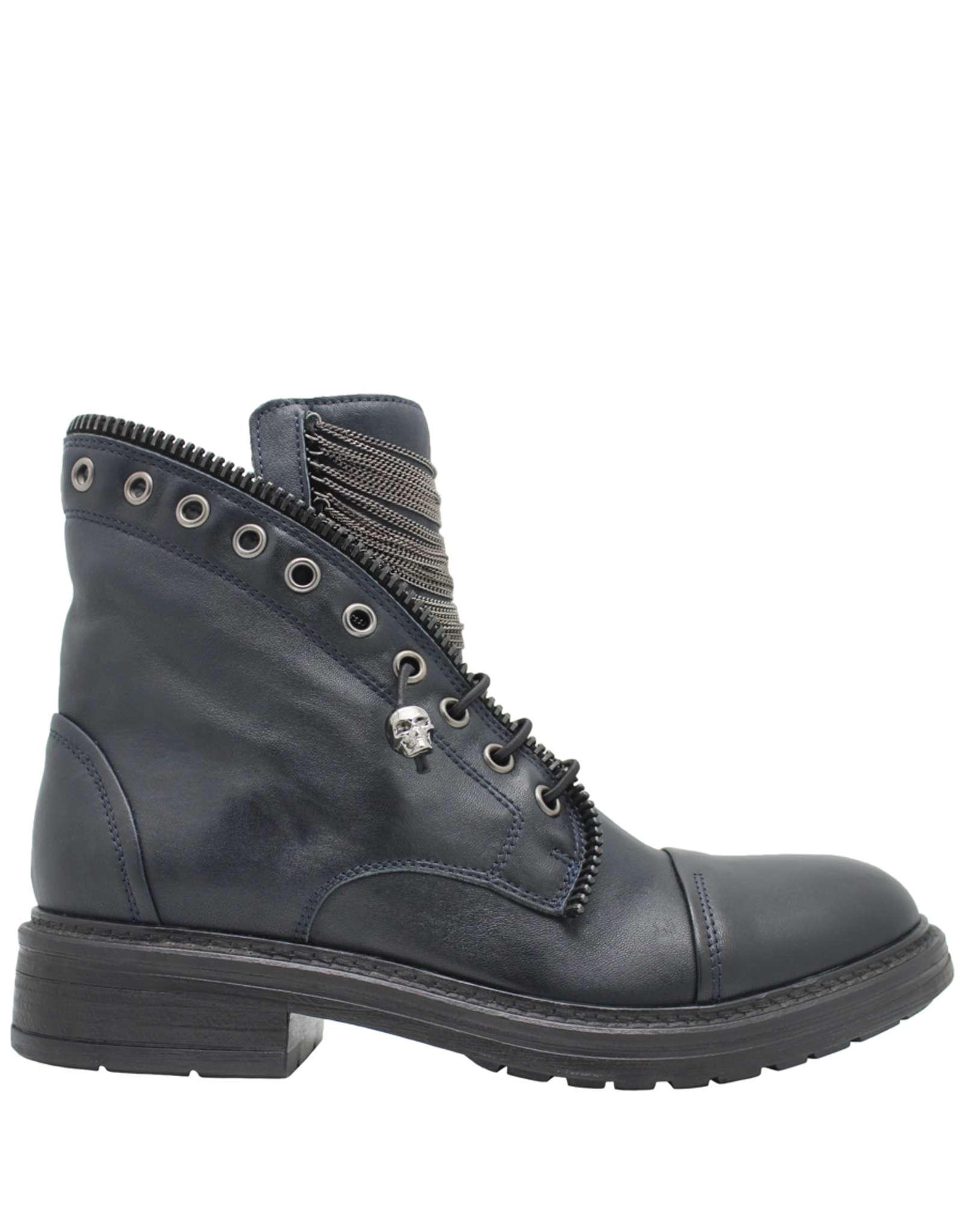 Now Now Blue Chain Detail Pull On Boot 7024