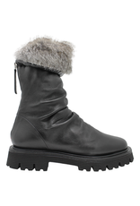Halmanera Halmanera Black Rabbit Cuff Boot 2055