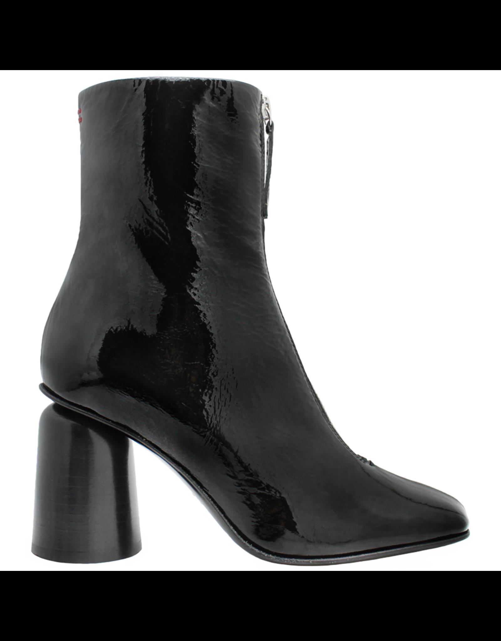 Halmanera Halmanera Black Patent Front Zip High Heel 2044