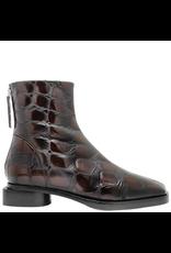 Halmanera Halmanera Brown Croco Back Zip Boot 2046