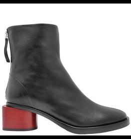 Halmanera Halmanera Black Back Zip Boot w/Red Heel 2054