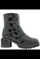 Halmanera Halmanera Black Croco Top Zip Low Heel 2059