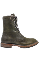 Moma Moma Green Military Lace-Up Boot 2149