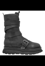 Ixos Ixos Black Mid-Calf Boot with Elastic 1547