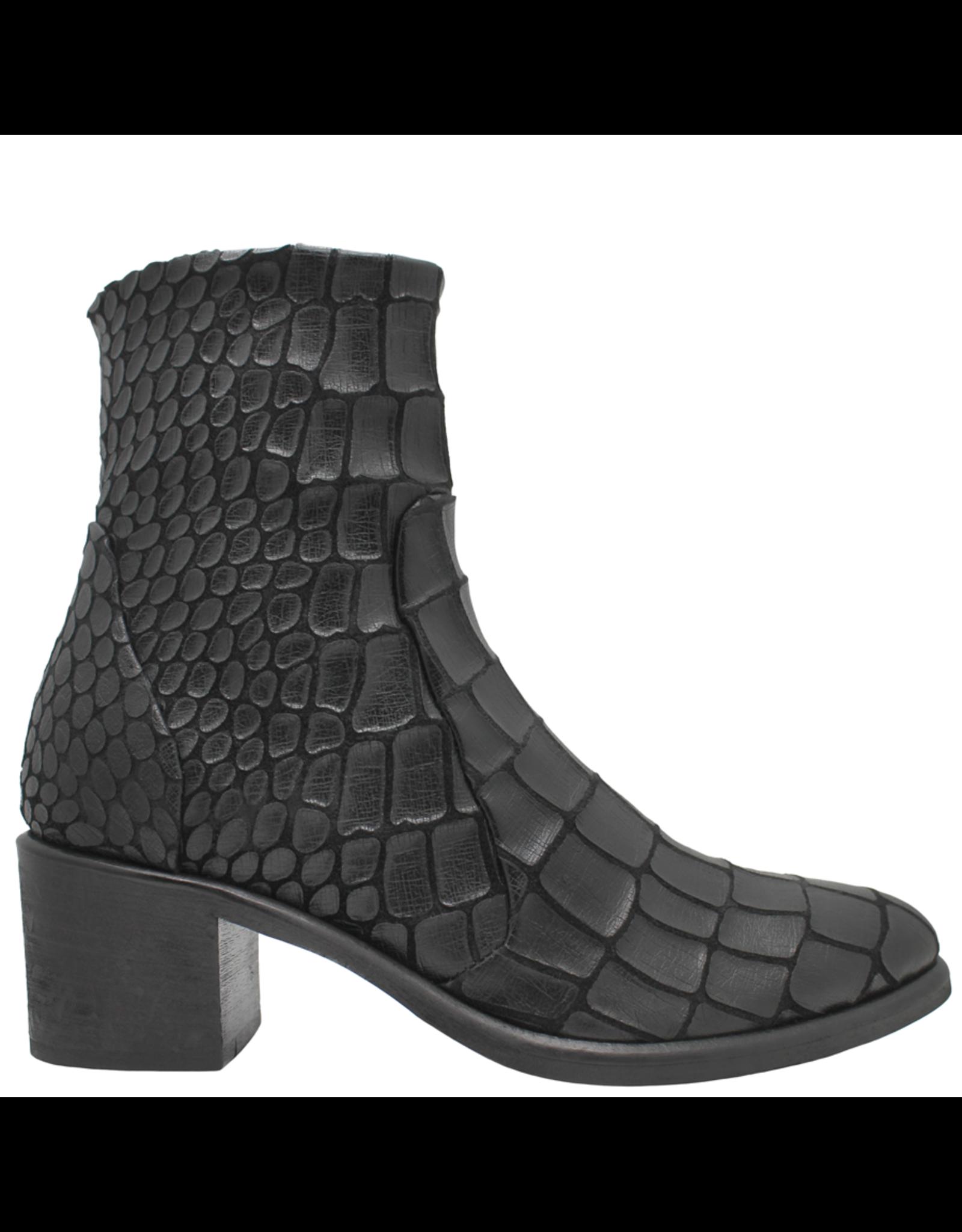 Strategia Strategia Black Gator Side Zip Boot 3913