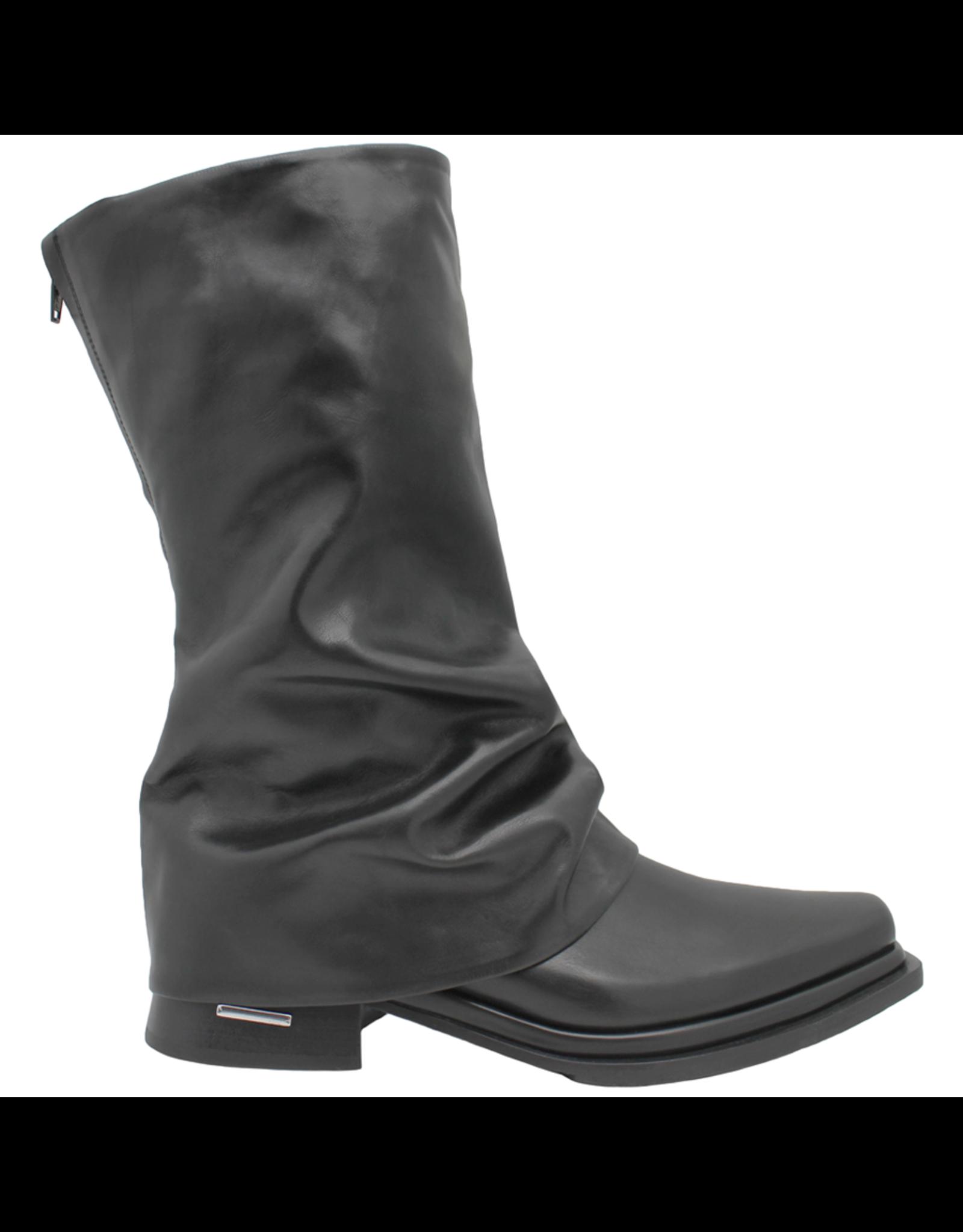 Ixos Ixos Black Point Toe Cuff Boot 1553