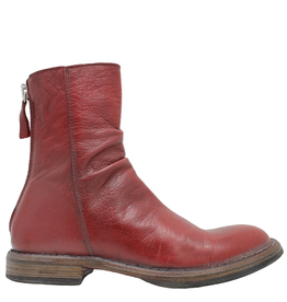 Moma Moma Red Mid-Calf Back Zip Boot 2147