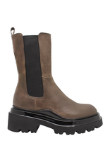 Now Now Brown Mid-Calf Chelsea Lug Sole 7117