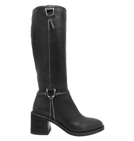 Now Now Black Knee Boot with Harness 7157