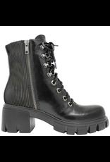 Now Now Black 2-Zipper Boot Laces+Studs 7063