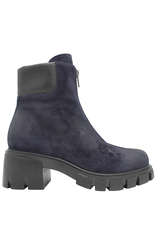 Now Now Blue Suede Top Zipper Boot 7066