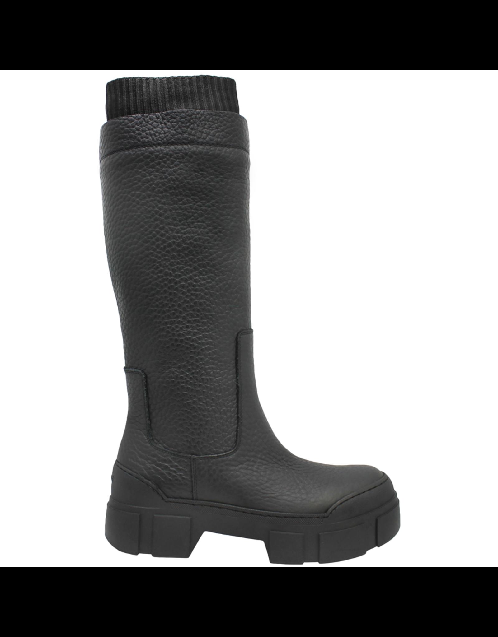 VicMatie VicMatie Black Knee Boot with Knit Cuff 3164