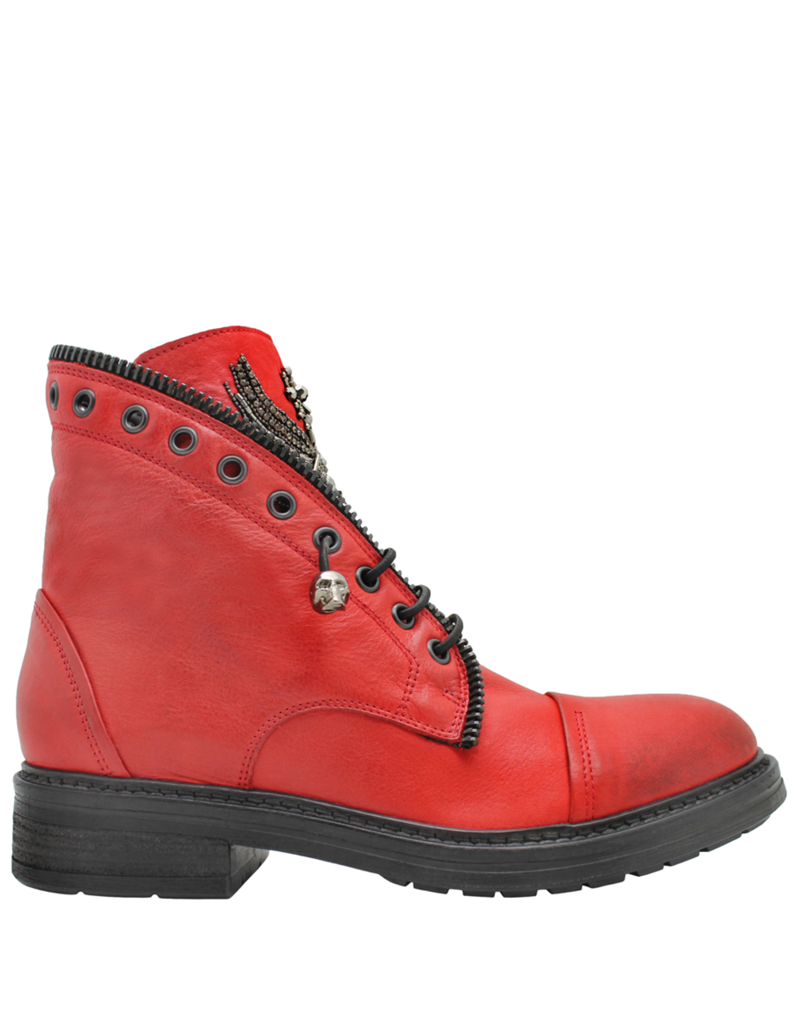 Now Now Red Jewel Pull On Boot 7018