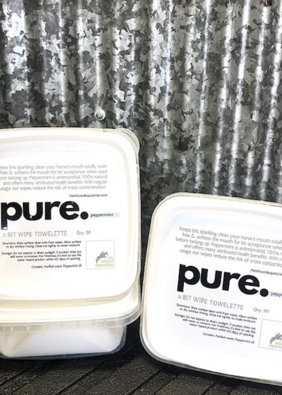 Infused Equestrian pure. Bit Wipes Peppermint