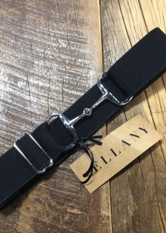 "Ellany Equestrian Ellany 1.5"" Black Snaffle Belt"