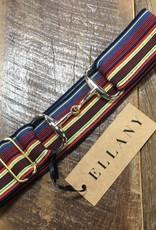 Ellany Red, Yellow, Blue 1.5 Gold Snaffle Elastic Belt