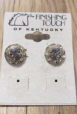 The Finishing Touch Of Kentucky Small Crystal and Gold Earring