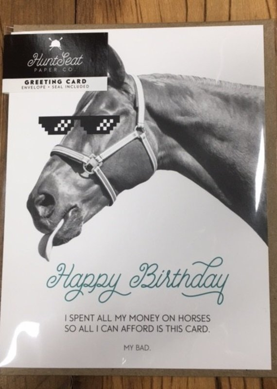 Hunt Seat Paper Co. Happy Birthday Money Card