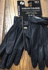 Heritage Gloves Heritage Black Leather Trail Gloves