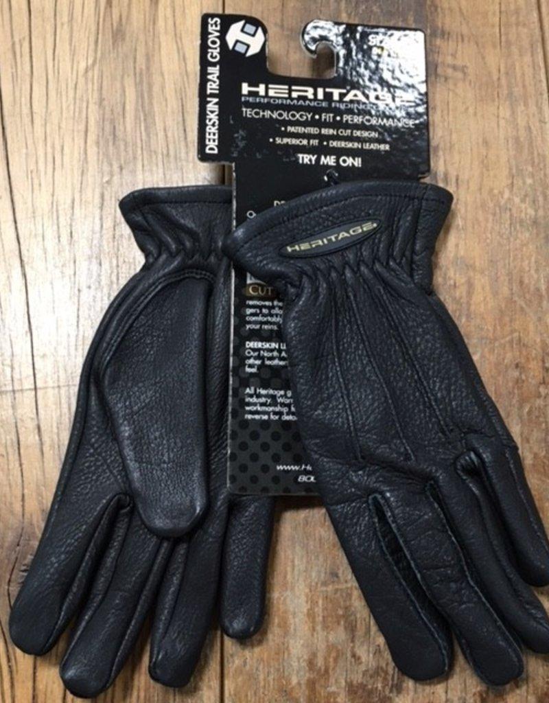 Heritage Gloves Heritage Deerskin Black Trail Gloves