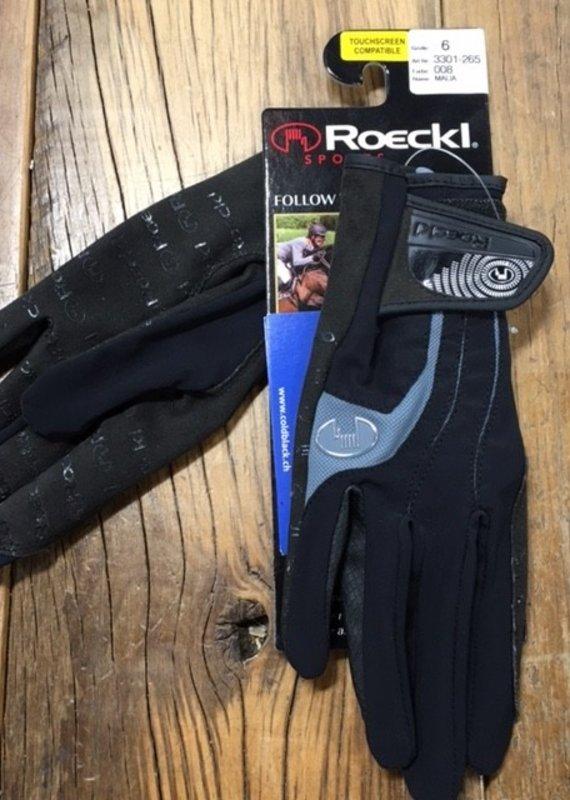 Roeckl Roeckl Malia Black And Grey Gloves