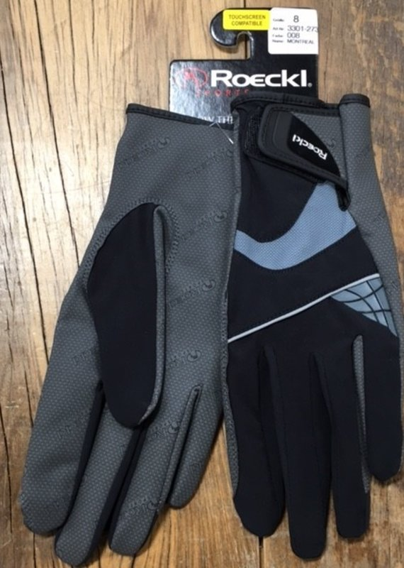 Roeckl Roeckl Montreal Black And Grey Gloves
