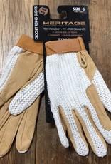 Heritage Gloves Heritage Crochet Tan Riding Gloves