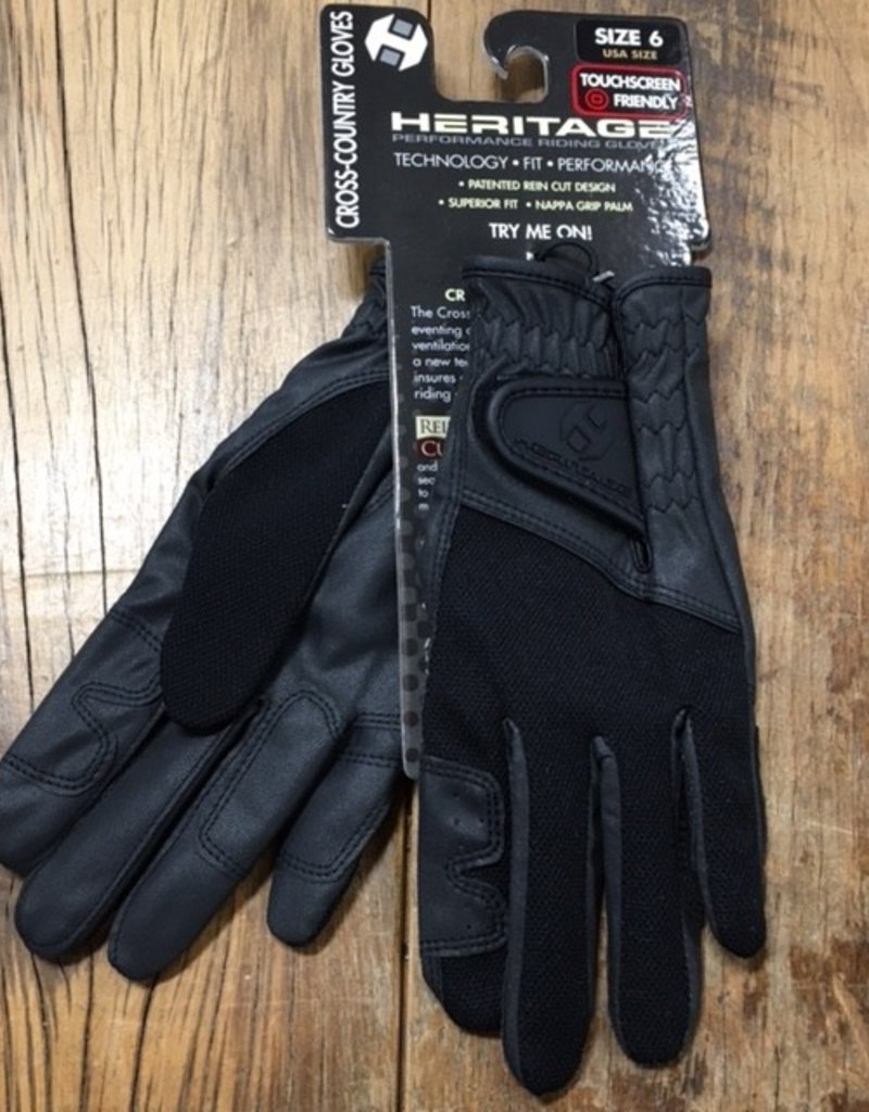 Heritage Gloves Heritage Cross Country Black Gloves