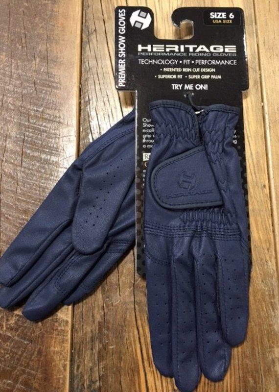 Heritage Gloves Heritage Premier Navy Show Gloves