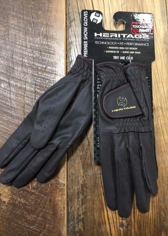 Heritage Gloves Heritage Premier Chocolate Brown Show Gloves