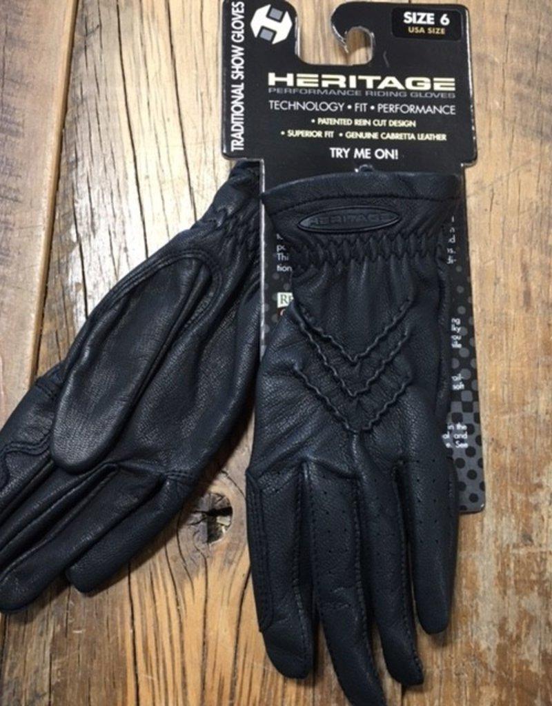 Heritage Gloves Heritage Traditional Black Show Gloves