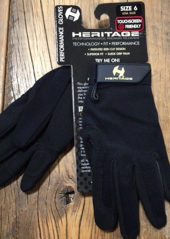 Heritage Gloves Heritage Performance Black Show Gloves