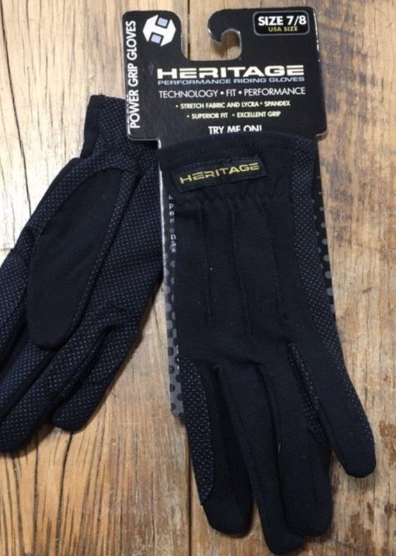 Heritage Gloves Heritage Power Grip Black Gloves
