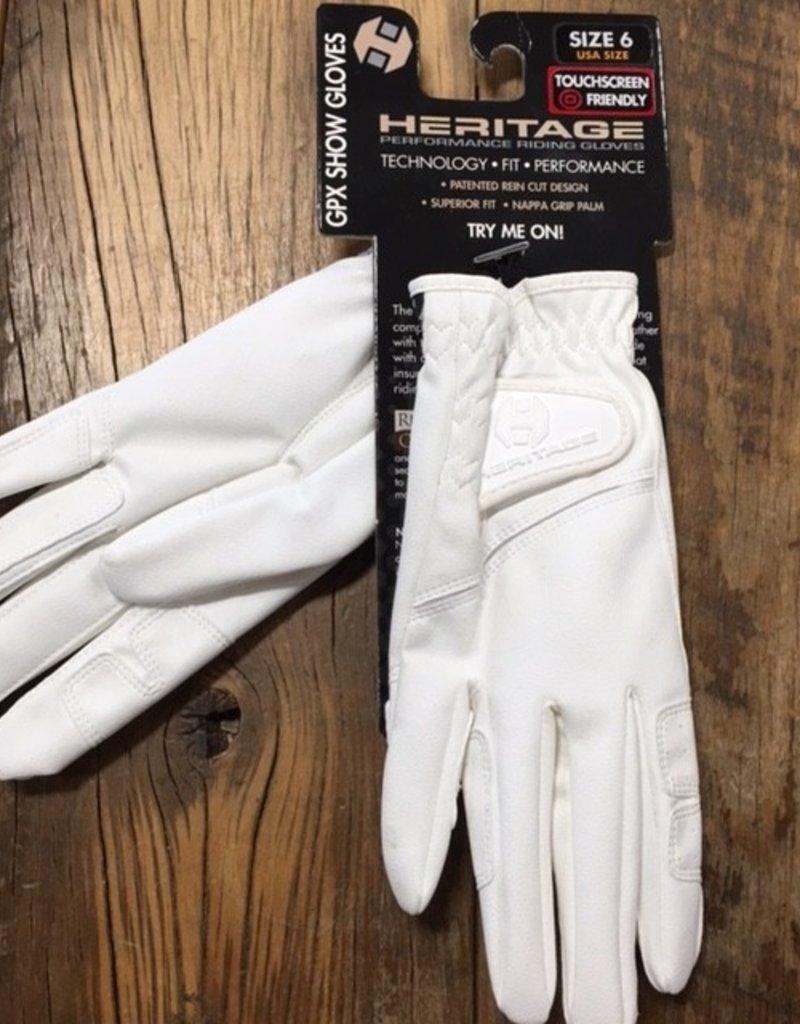 Heritage Gloves Heritage GPX White Show Gloves