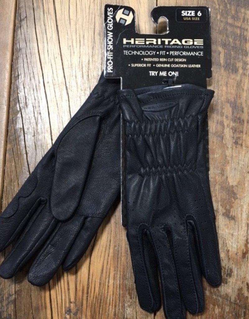 Heritage Gloves Heritage Pro-Fit Black Show Gloves